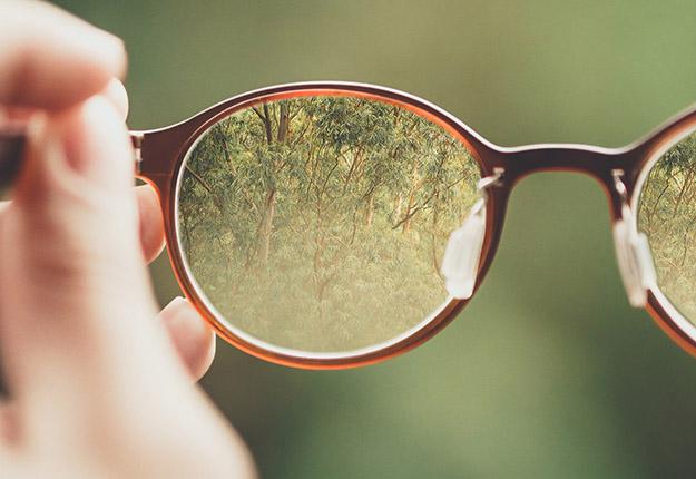 Brille mit Fokus
